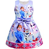 FUNTEKS Little Girls Princess Costume Party Dress Snow Queen Cosplay Dress up