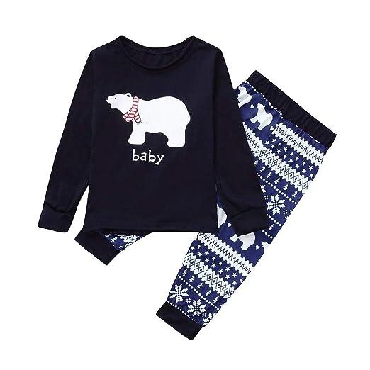 8e80a4cbec Amazon.com  AMSKY Christmas Mommy&Daddy&Me Kids Small Bear Top+ ...