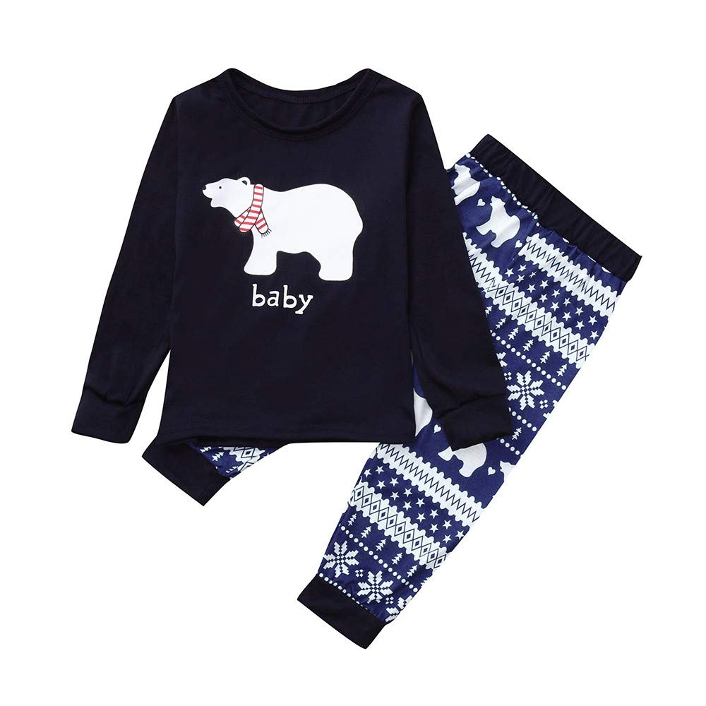 COPPEN 2018 Family Christmas Pajamas Set Bear
