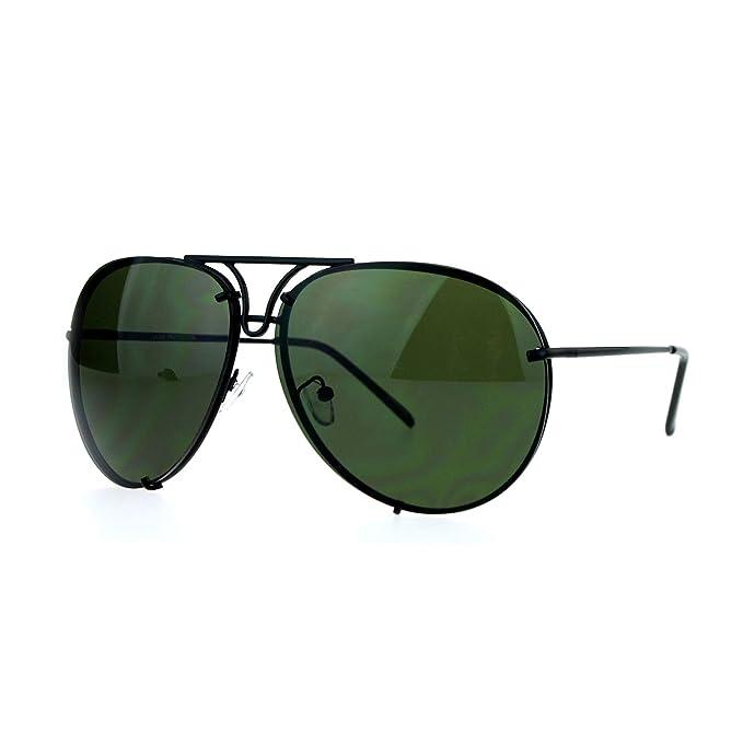Amazon.com: Oversized Aviator anteojos de sol redonda ...