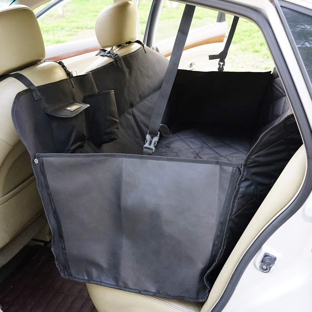 A 165cm143cm50cmCar mat Seat cover Back row Pet mat waterproof Scratchproof Dirty Dog seat cover (color   D, Size   150cm135cm35cm)