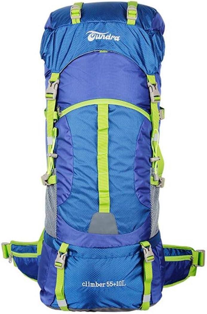 ハイキングバッグ アウトドアクライミングバッグショルダーバッグバックパック旅行バックパック55 lの大容量の撥水走行車のキャンプによる あうとどあくらいみんぐばっぐしょるだ゜ばっぐばっくぱっくりょこうばっくぱっく55 lのだいようりょうのはっすいそうこうしゃのきゃんぷによる ハイキングバックパック ( 色 : Royal 青 , サイズ さいず : 55+10L ) Royal 青 55+10L
