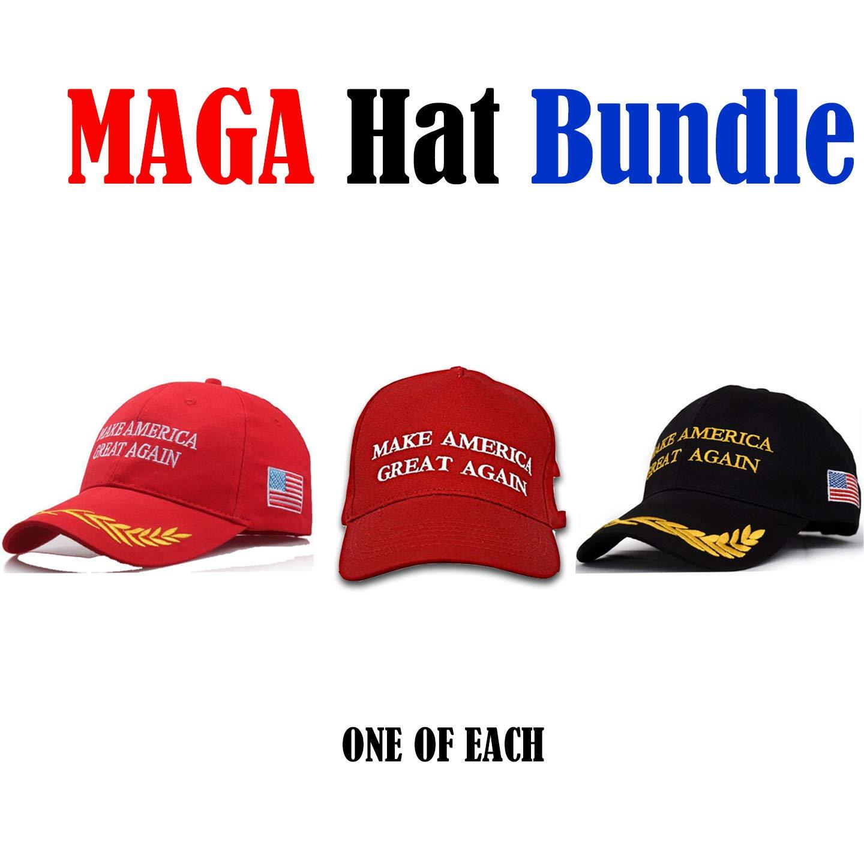 Make America Great Again Hat The Ultimate Republican [3 Pack], Donald Trump USA MAGA Cap Adjustable Baseball Hats
