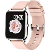 Popglory Smart Watch, Reloj Inteligente con Oxígeno Sanguíneo Presión Arterial Frecuencia Cardíaca, Pulsera Actividad…