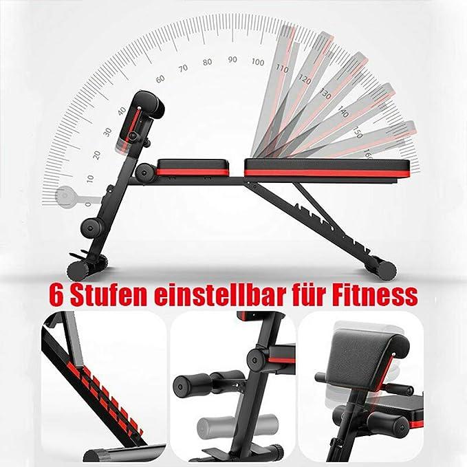 Tribesigns Fitness Hantelbank,trainingsbank mit Multifunktion,klappbare flachbank f/ür bauchtrainer,r/ückentrainer,et