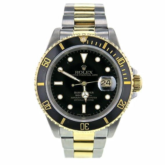Rolex Submariner swiss-automatic Mens Reloj 16613 (Certificado) de segunda mano: Rolex: Amazon.es: Relojes