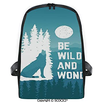 Amazon.com | SCOCICI Lightweight Travel Backpack Hand Drawn ...