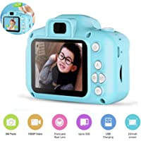 Protokart Kids Digital Video Rear Camera and Mini Child Camcorder Screen, Shock Proof and Anti Fall for Age 3 - 14, 2 inch Colour LCD Screen, Blue / Pink (Blue)