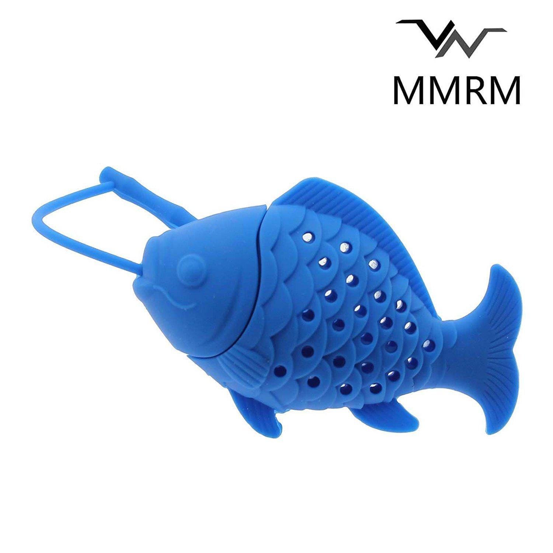 MMRM 1Pc Mignon P/êche Forme en Silicone Herbe Feuilles de Th/é Passoire Filtre Infuseur Couleur Al/éatoires