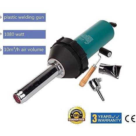 iglobalbuy 1080 W plástico pistola de soldadura Aire Caliente Gas PVC Vinilo Barra 40 – 1022