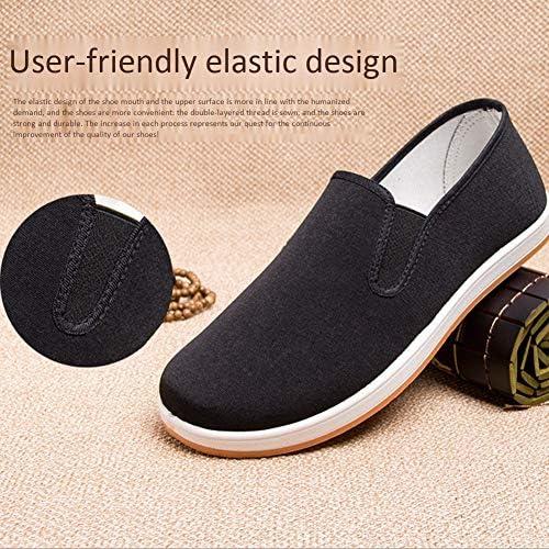 男性と女性のためのキャンバス武術靴黒中国カンフー靴と太極拳スポーツ靴black-39