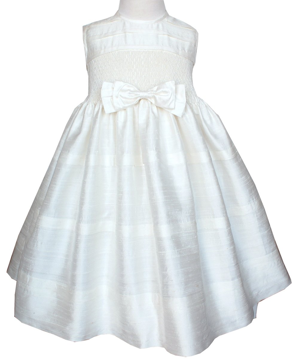 Beautiful Ivory Silk Dupioni Girls Dress for Flower Girls or Pageants