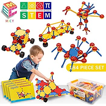 46c6bae22a89 Amazon.com  cossy STEM Learning Toy Engineering Construction ...