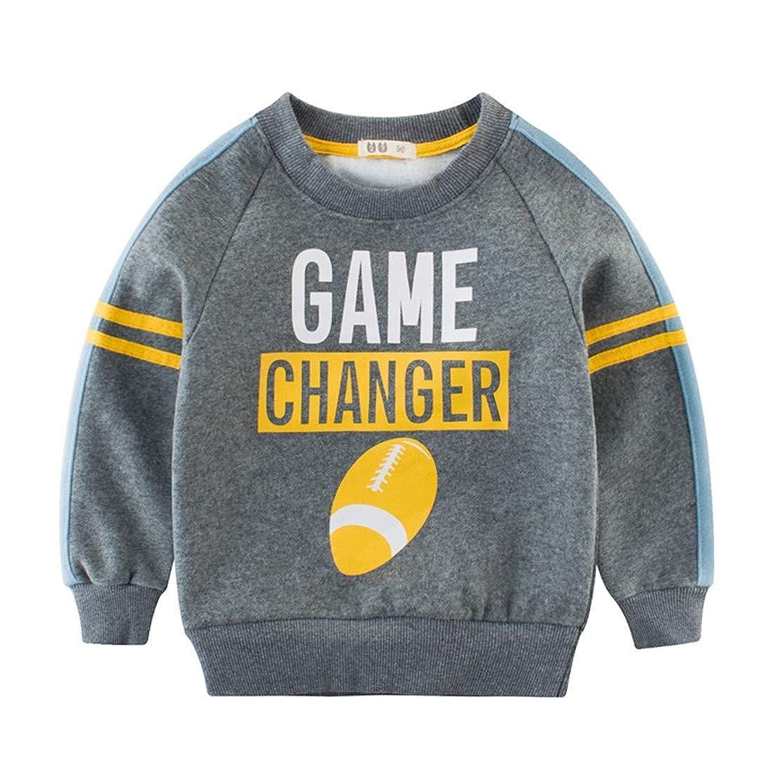 BesserBay Boys Shirts Toddler Long Sleeve Top Kids Football Tee Sweatshirt 2-10 Years