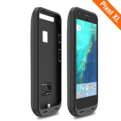 46f0f5b274ab34 ICONIC [Upgrade] Pixel XL Battery Case, 5000mAh Charger Charging Case High  Capacity Portable External Protective Power Bank Pack for Google Pixel XL  ...