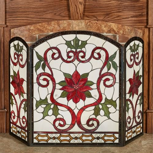 Amazon Com Touch Of Class Celyn Decorative Fireplace Screen Red