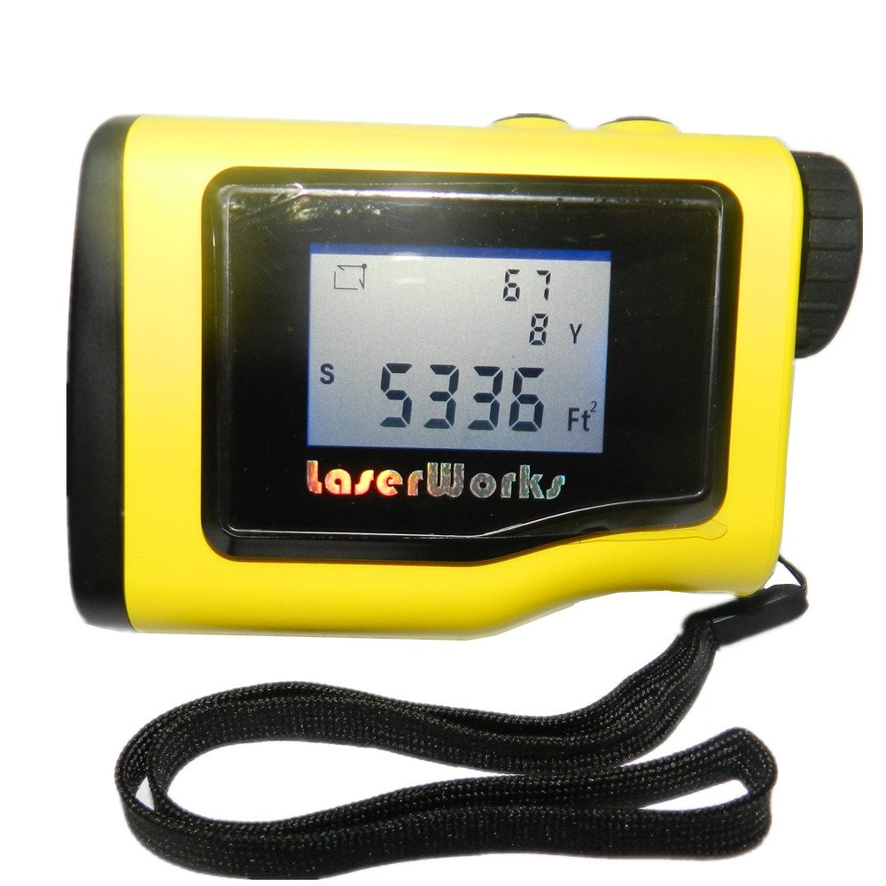 LaserWorks Rangefinder 1000 Yards +- 0.5Y With LCD Height Measurement Angle Distance Measuring Device Digital Level Measuring Instrument Area Circle Rectangular