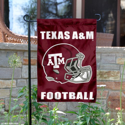 Texas A&M Aggies Helmet Garden Flag and Yard Banner -