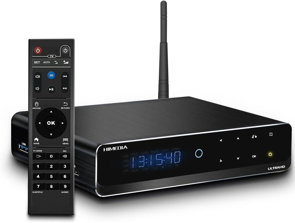 BoLv Himedia Q10PRO Android 5.1 Smart TV Box / MINI PC (4K Dolby Digital H.265 Hardware HDMI 2.0 Gigabit-LAN Dualband WLAN- Bluetooth USB AirPlay Miracast) 4K 3.5 Reproductor de HDD: Amazon.es: Electrónica