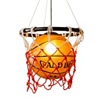 Creative Acrylic Basketball and Nets Pendant Lamp Home Loft Deco Ceiling Lamp with E27 Bulb Retro Vintage Hanging Light Pendant Hanging Lamp Indoor Ceiling Lighting Fixture Living Room Dining Bar jsmh