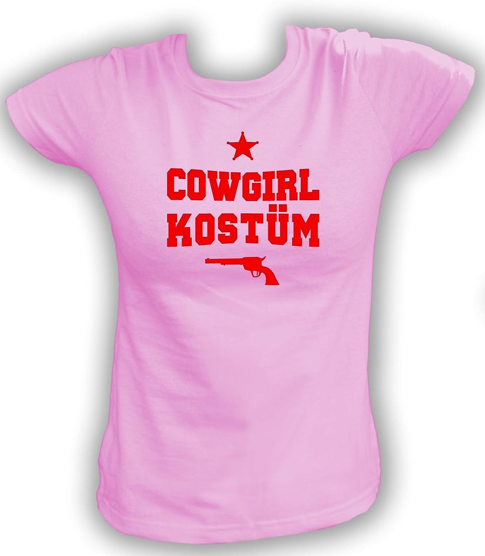 Tipo de dictado Camiseta de Cowgirls Disfraz rosa Large: Amazon.es: Ropa y accesorios