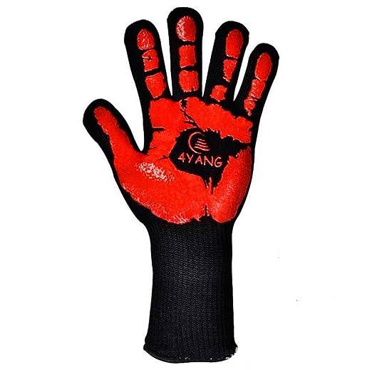 QXWL 500 grados de aislamiento térmico BBQ aramid guantes barbacoa ...