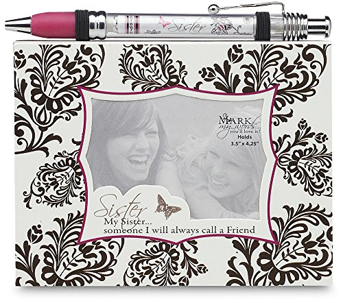 Mark My Words Notepad and Banner Pen Set, Sister Saying, 5-1/2 by 4-1/4-Inch -