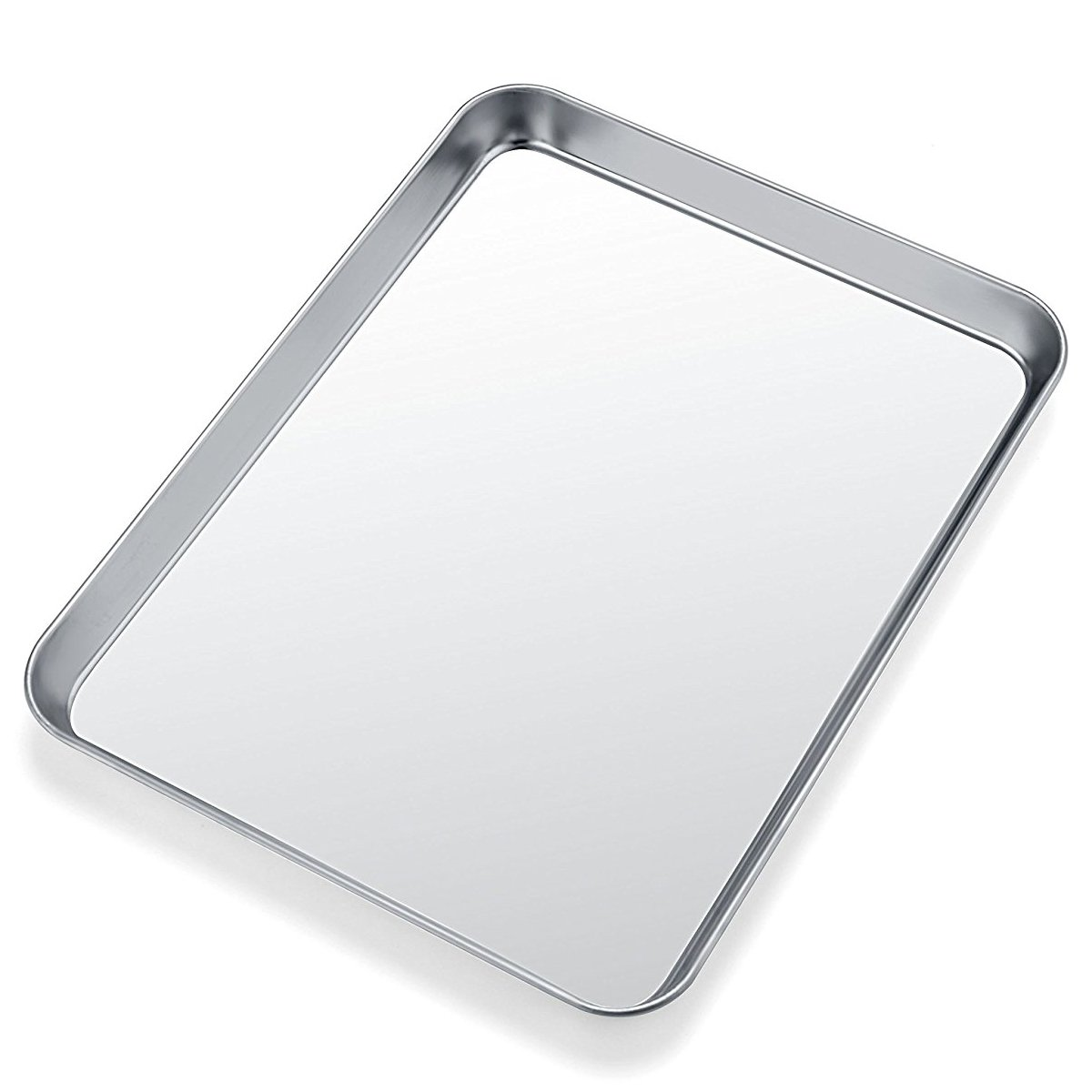 Baking Pans Sheet, Stainless Steel Baking Pan Cookie Sheets for Toaster Oven, Umite Chef Nonstick Tray Pan, Superior Mirror Finish, Easy Clean, Dishwasher Safe, 9 x 7 x 1 inch