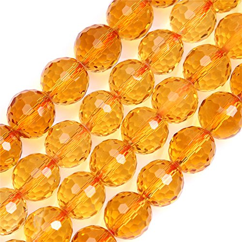 10mm Round Faceted Citrine Beads Strand 15 Inch Jewelry Making Beads (Faceted Citrine Bead)
