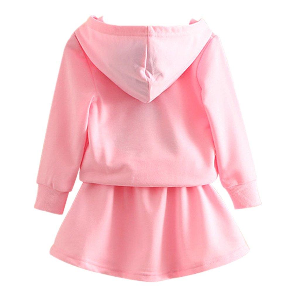 LittleSpring Little Girls Skirt Set Autumn Cartoon