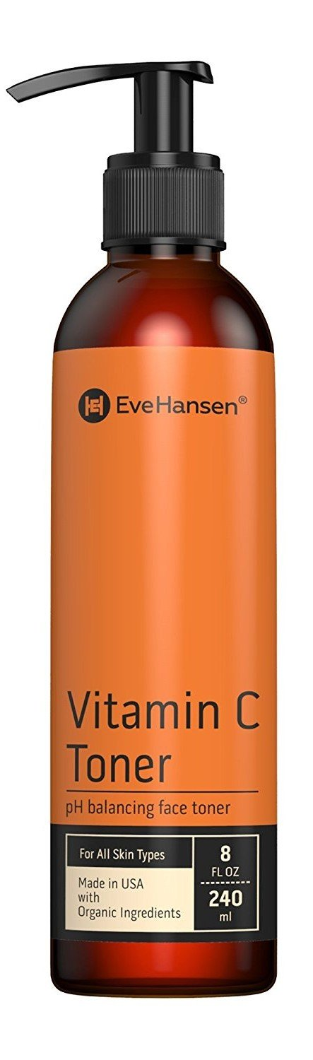 Vitamin C Facial Toner by Eve Hansen - Hydrates and Firms Skin, Balances pH and Evens Skin Acne Tone - 8 Ounces
