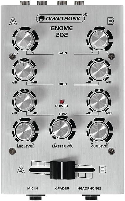 GNOME 202 Mini Mixer Silver Omnitronic