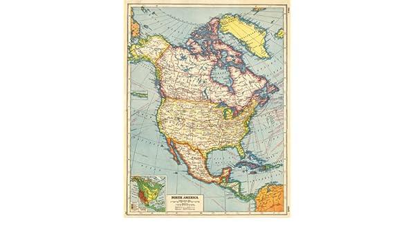 Amazon.com: NORTH AMERICA. Canada provinces. US states ...