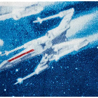 Jay Franco Star Wars Classic Vintage Logo Throw Blanket, Blue: Home & Kitchen