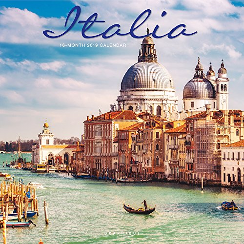 Italy Photograph - Graphique Italia Wall Calendar, 16-Month 2019 Wall Calendar with Historic Italian Landmark Photographs, 3 Languages & Major Holidays, 2019 Calendar, 12