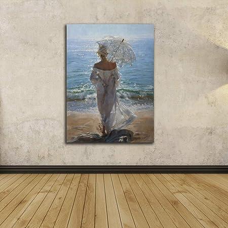 WSNDGWS Pintura de Lienzo Pared Moderna Retrato Abstracto ...