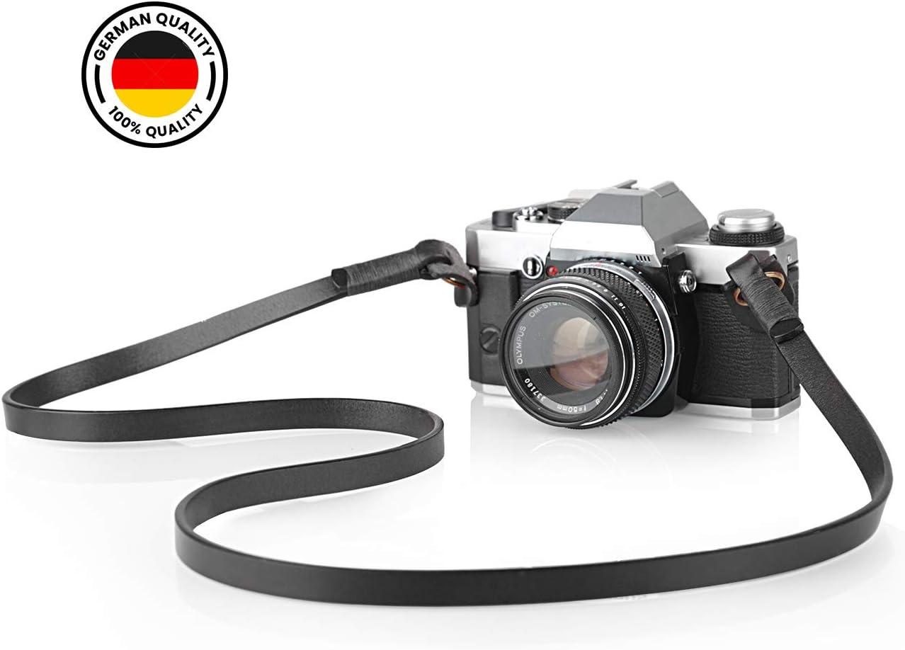 Color : Black Camera Belt Accessory Handmade Genuine Leather Camera Shoulder Sling Belt for DSLR Digital Camera Neck Strap Durable