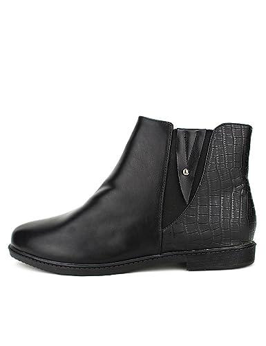 the best attitude de00e 9119a Cendriyon, Bottine Noire Noire Noire Simili Cuir MetL Chaussures Chaussures  Femme   Authentique   Exceptionnelle