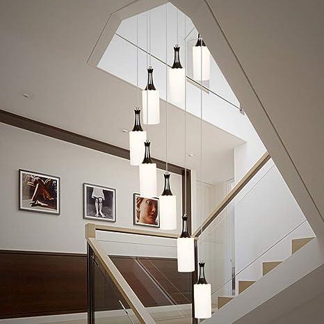 CZZ Araña Minimalista Salón Moderno de la iluminación Creativa Escalera de Caracol Restaurante Luces de araña: Amazon.es: Deportes y aire libre