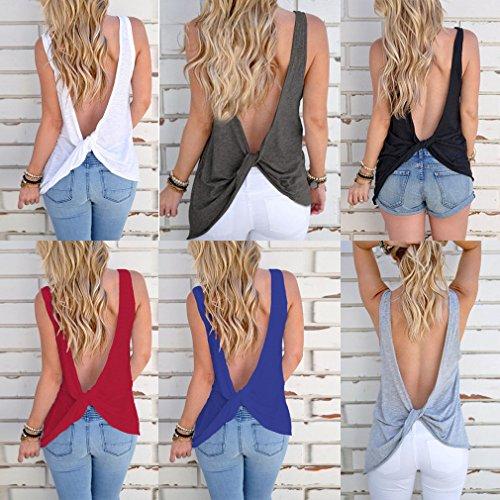 shirt Blusa M colori 2xl 3xl Vino rosso Hibote donna girocollo Maglietta senza L S Top Maglietta allentata maniche Tinta T Xl unita 6 z68ana4wx