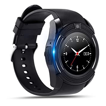 Montre Connectée,Anding Bluetooth SmartWatch Sport Montre Bracelet Soutien Carte Sim de et Carte de