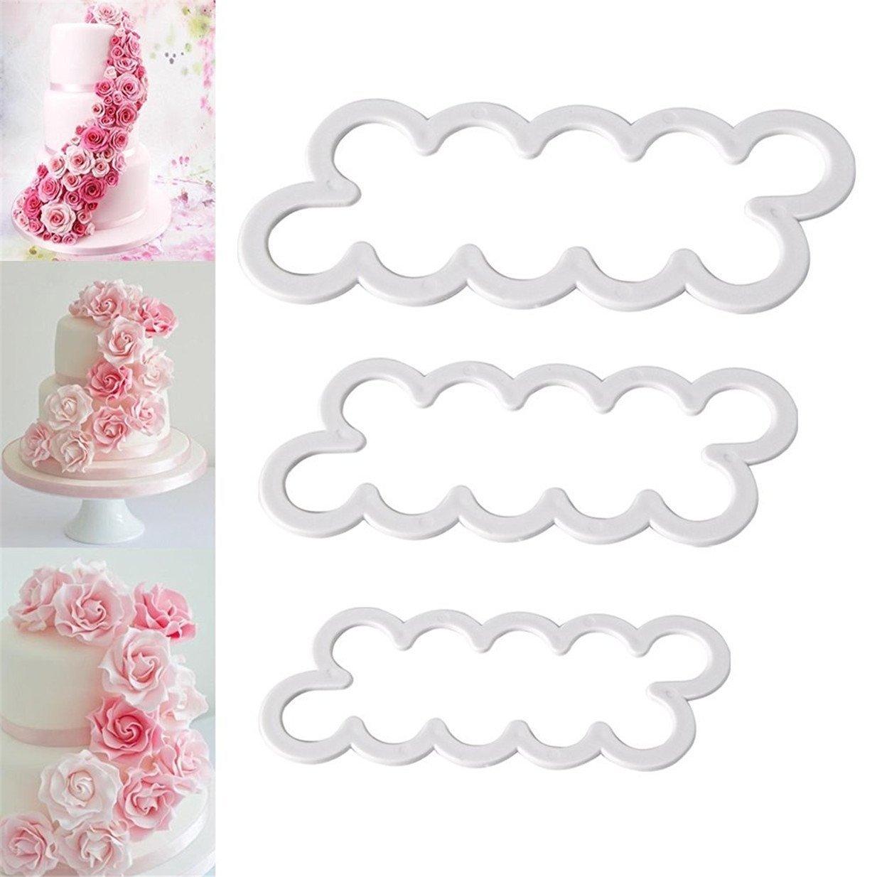 WA 3d rosa flor de pétalos para tartas galletas Fondant molde DIY herramientas de decoración: Amazon.es: Hogar