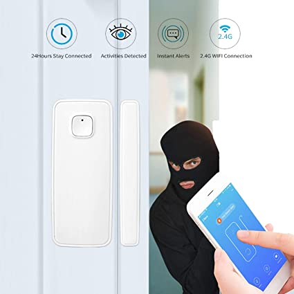 LAIKEUP WiFi Window/Door Sensor Remote Wireless Security ...