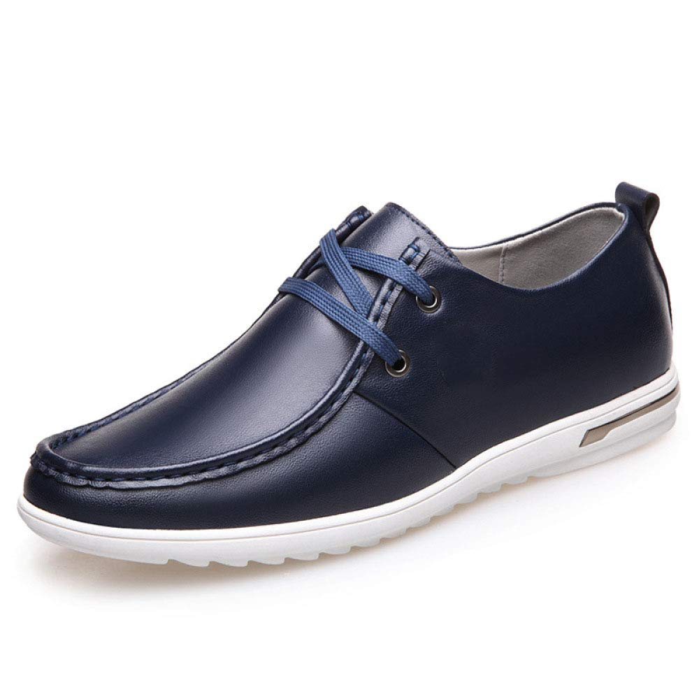 Koyi La Primavera y el Verano nuevos Zapatos de los Hombres Silvestres Transpirable Juventud versión Coreana de los Zapatos de Cordones Ocasionales cómodos Antideslizantes Desgaste 43 EU|Blue