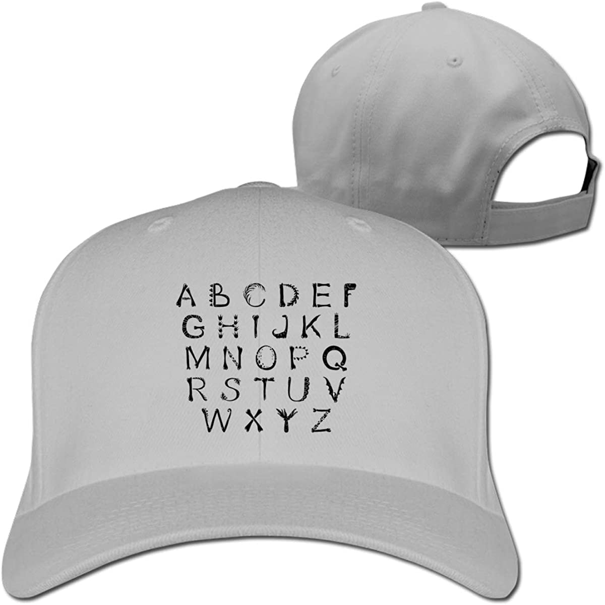 ABC Puzzle Classic Adjustable Cotton Baseball Caps Trucker Driver Hat Outdoor Cap Fitted Hats Dad Hat Gray
