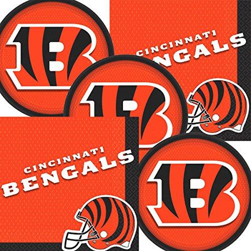 Cincinnati Bengals NFL Football Team Logo Plates And Napkins Serves 16