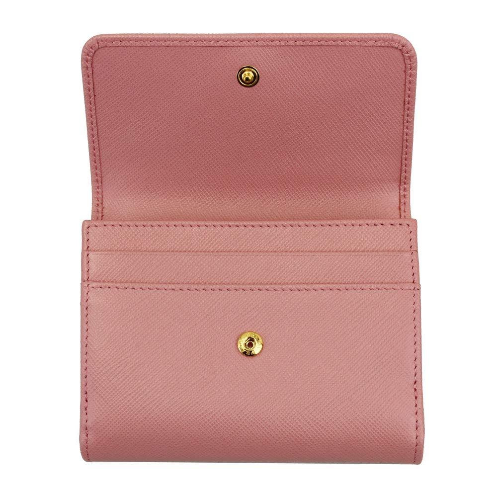 ed367699ab Amazon.com: Prada Pink Saffiano Leather Bi-fold Wallet 1MH523 Quarzo  Mordore: Go Guys 88 (ship from Japan 3-8days delivery)