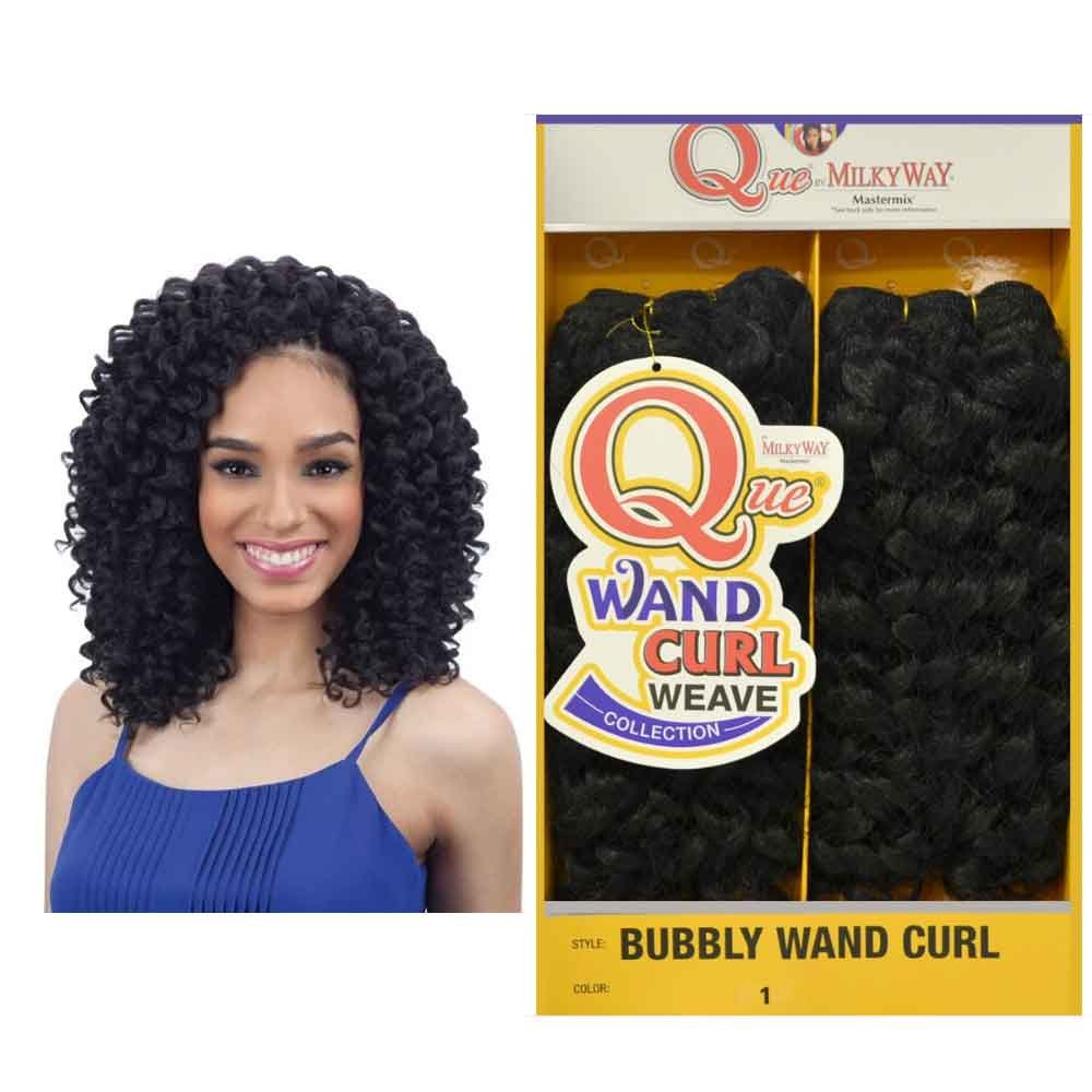 Amazon Milkyway Bubbly Wand Curl Que Human Hair Blend Weaving