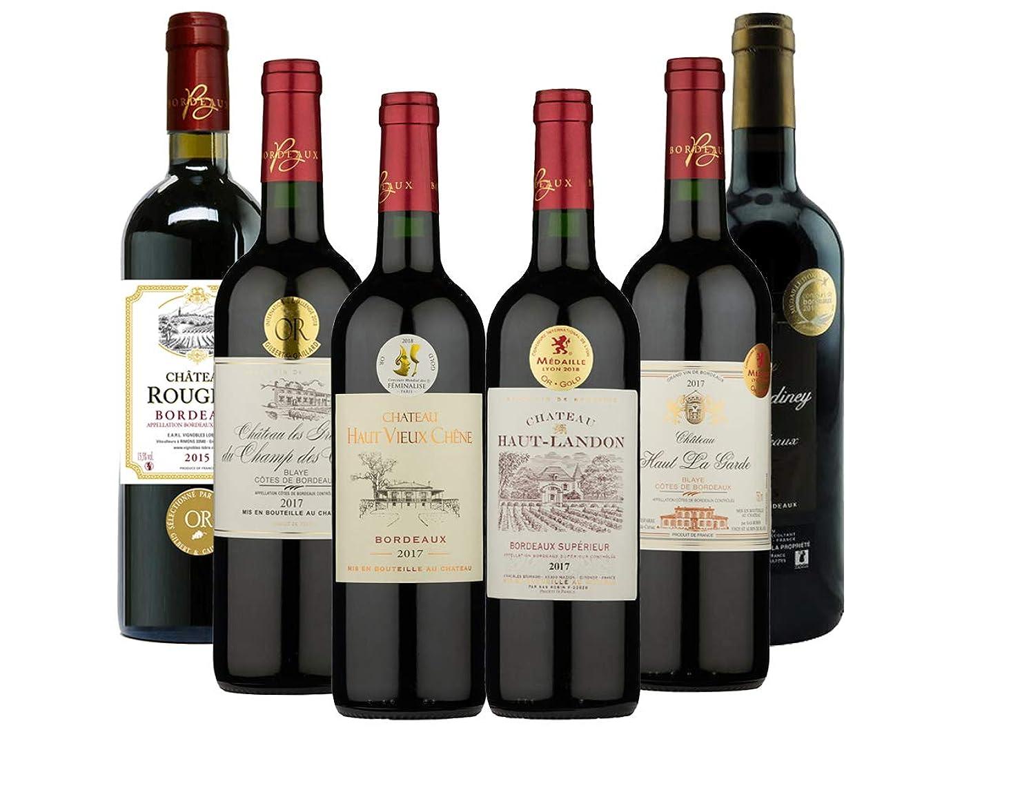 連結する天才浸した注目の複数メダル受賞 ワインも! すべて金賞受賞ボルドー赤ワイン6本セット(赤750mlx6) [フランス/Amazon.co.jp限定/winery Direct]