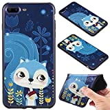 iPhone 7 Plus (5,5 zoll) Case Cover, Ecoway Fashion painting pattern Soft Silicone Case Protective Cover Cell Phone Case for iPhone 7 Plus (5,5 zoll) - squirrel